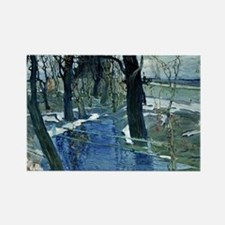 Isaak Brodsky painting, Early Spr Rectangle Magnet