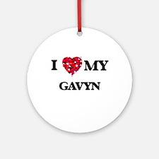 I love my Gavyn Ornament (Round)