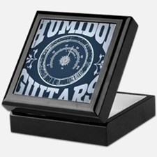 Hygrometer-blue-square Keepsake Box