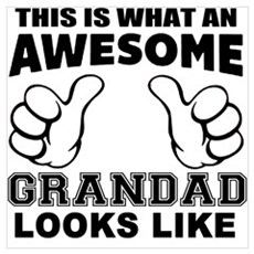 this is what an awesome grandad looks like Framed Print