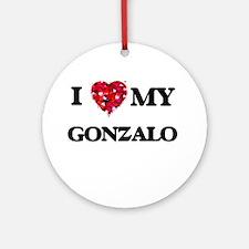 I love my Gonzalo Ornament (Round)