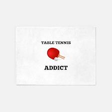 Table Tennis Addict 5'x7'Area Rug