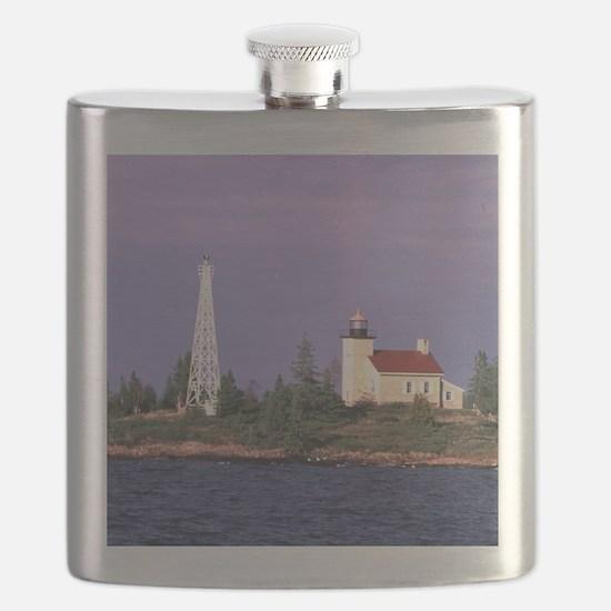 Copper Harbor Lighthouse Flask