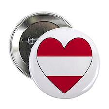 Austrian Flag Heart Button