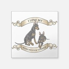I Love My Manchester Terrier Sticker
