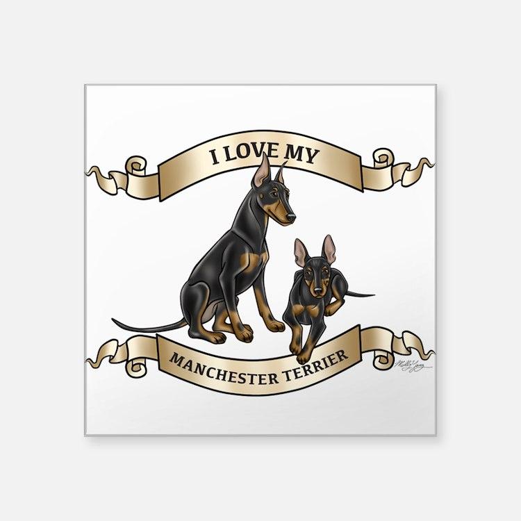 I Love My Manchester Terrier Sticker