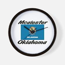Mcalester Oklahoma Wall Clock