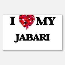 I love my Jabari Decal