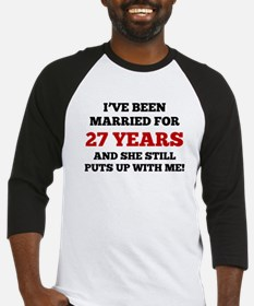 Ive Been Married For 27 Years Baseball Jersey
