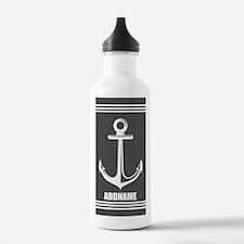 Dark Gray Anchor Perso Water Bottle