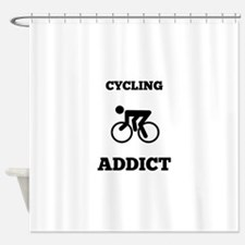 Cycling Addict Shower Curtain