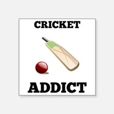 Cricket Addict Sticker
