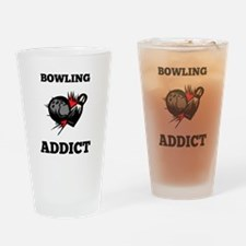 Bowling Addict Drinking Glass