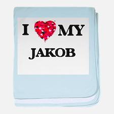 I love my Jakob baby blanket