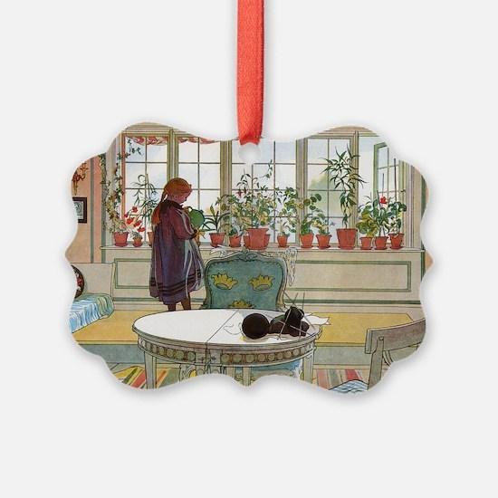 Flowers on the windowsill, Illusr Ornament