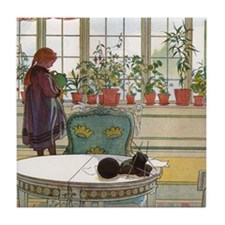 Flowers on the windowsill, Illusration by Carl Lar