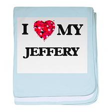 I love my Jeffery baby blanket