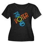 Proud Voter Plus T-Shirt (Dark Scoop Neck)