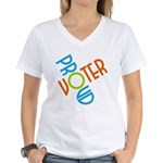 Proud Voter Women's V-Neck T-Shirt
