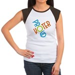Proud Voter Cap Sleeve Tee Shirt