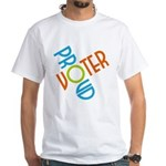 Proud Voter Tee Shirt (White)