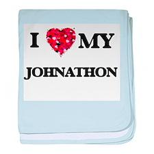 I love my Johnathon baby blanket
