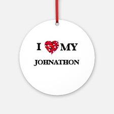 I love my Johnathon Ornament (Round)