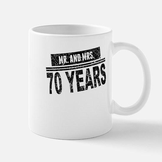 Mr. And Mrs. 70 Years Mugs