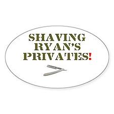 SHAVING RYANS PRIVATES! Decal