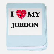 I love my Jordon baby blanket