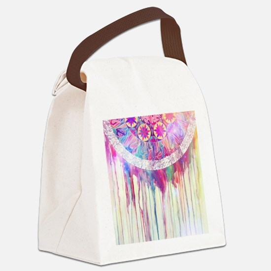 Urban Abstract Art Painting Illus Canvas Lunch Bag