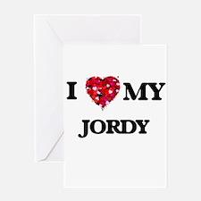 I love my Jordy Greeting Cards