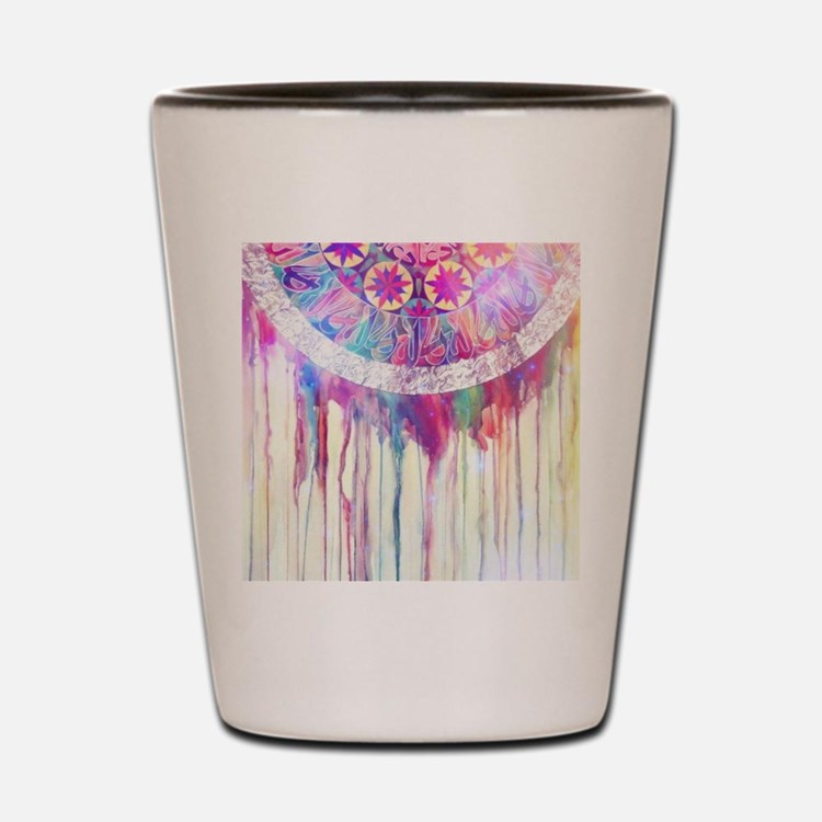 Urban Abstract Art Painting Illustratio Shot Glass