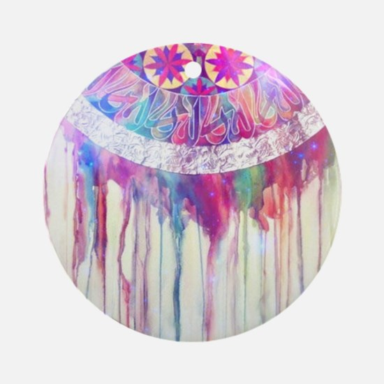 Urban Abstract Art Painting Illus Ornament (Round)
