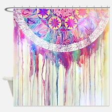 Urban Abstract Art Painting Illustr Shower Curtain