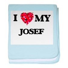 I love my Josef baby blanket