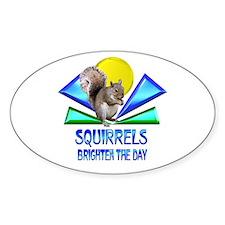 Squirrels Brighten The Day Decal