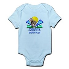 Squirrels Brighten The Day Infant Bodysuit