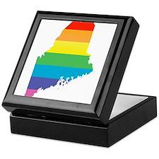 maine rainbow Keepsake Box
