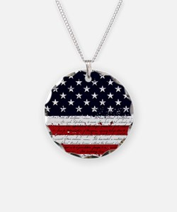 American Flag Declaration In Necklace