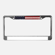 American Flag Declaration Inde License Plate Frame