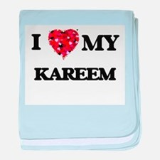 I love my Kareem baby blanket