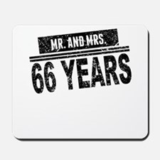 Mr. And Mrs. 66 Years Mousepad