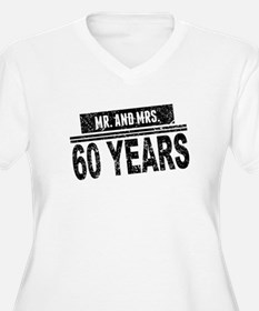 Mr. And Mrs. 60 Years Plus Size T-Shirt