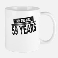 Mr. And Mrs. 59 Years Mugs
