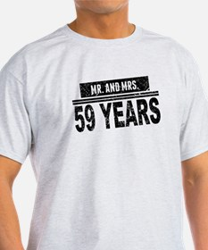 Mr. And Mrs. 59 Years T-Shirt
