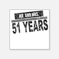 Mr. And Mrs. 51 Years Sticker