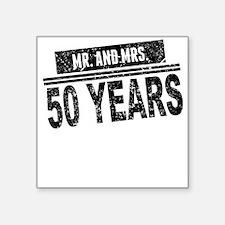 Mr. And Mrs. 50 Years Sticker