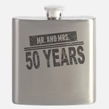 Mr. And Mrs. 50 Years Flask