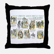 Scenes from Pride and Prejudice Throw Pillow